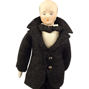 Doll House Grandfather in Suit with Bow Tie
