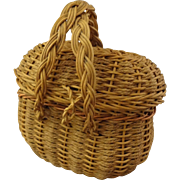 Woven Doll Purse in Basket Form