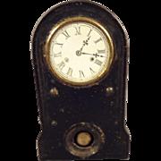 Miniature Cast Iron Clock with Pendulum Hotchkiss