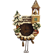 Miniature Alpine Wall Clock with Bell