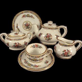 "Coalport ""Ming Rose"" Miniature Tea Set from England"