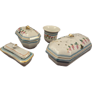 German Porcelain Vanity Set for Doll's Toilette