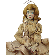 Early Lady Puppet with Beautiful Face and Long Gown