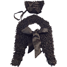 SALE French Fashion Mohair Muff and Capelet Accessory