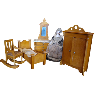 Schneegas Golden Oak Wardrobe for Doll House