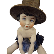 Precious Seated All Bisque with Hat and Tutu