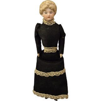 "6"" All Bisque Doll House Doll with Updo Hair"