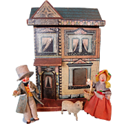 Pair All Bisque German Boy and Girl in Original Costumes