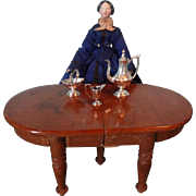 Early Miniature Wooden Extension Table