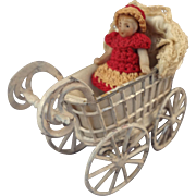 Lovely All Bisque Carl Horn Doll with Crocheted Dress and Bonnet