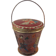 Great Miniature Tin Litho Sand Pail for Dolls
