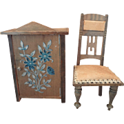 German Chair and Cabinet for Doll House