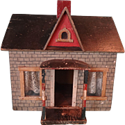 Early Primitive Folk Art Doll House