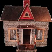 Early Primitive Folk Art Doll House