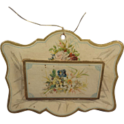 Letter Holder with Beautiful Lithography on Heavy Card Stock