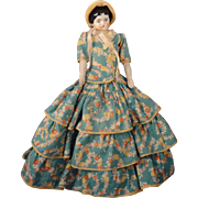 """8"""" China Head Doll in Lovely Dress and Bonnet"""