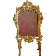 Ormolu Miniature Fire Screen or Room Divider by Erhard and Sohne