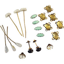 Group Lot of Fashion Doll Accessories and Faux Gems