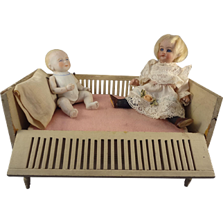 Doll Bed Crib with Drop Side and Linens