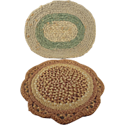 Two Doll House Woven Rugs