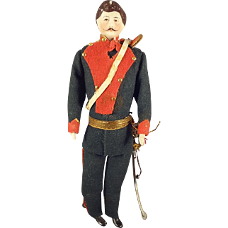 """7"""" Doll House Soldier with Mustache and Sword"""