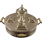 Magnificent Sterling Silver Casserole Server by Myers for Large Scale Doll House Display