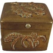 Small Brass Box with Lovely Embellishments on all Sides