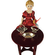 Sterling Doll House Table Items