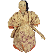 All Bisque Tiny Oriental Doll in Kimono