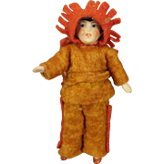 All Bisque Doll dressed as Native American with Articulated LImbs