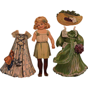 Paper Doll with Four Dresses and Two Hats by Raphael Tuck & Sons