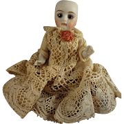 "4"" All Bisque Doll with Glass Eyes and Swivel Neck"