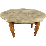 Marble Top Doll House Table as Center Table
