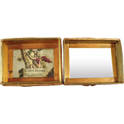 French Miniature Box with Mirror and Putti Scene