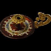 Miniature Austrian Enamel and Ormolu Chamberstick