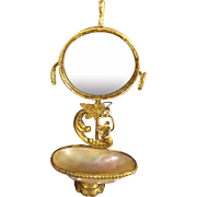Ormolu and Mother of Pearl Mirror and Basin