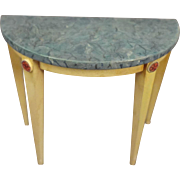 Doll House Demi-lune Table with Faux Marble Top