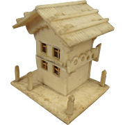 Thimble Holder in Form of Miniature House with Porch