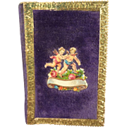 Antique Miniature Calendar dated 1870 and trimmed with Dresden and Putti