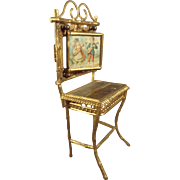 Ormolu Doll House Dressing Table in Faux Bamboo Form