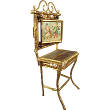 Ormolu Doll House Dressing Table in Faux Bamboo Form LAYAWAY AVAILABLE