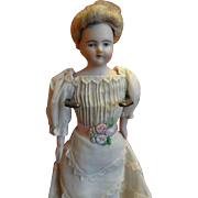 "7"" Doll House Lady with Lovely Painted Face and Beautiful Dress"