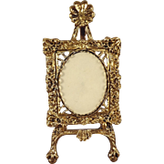 Miniature Gilt Metal Frame on Stand