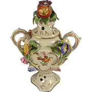 Beautiful German Porcelain Miniature Urn for Doll House