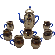 Beautiful Mercury Glass Miniature Doll House Tea Set