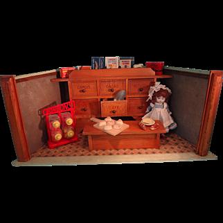 Wonderful Small German Confection Shop Room Box