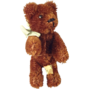 "Brown Schuco Bear 3 1/2"" Glass Eyes"