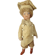 "French All Bisque Antique Lilliputien Chef 2 1/2"" tall"