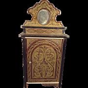 Biedermeier Boule Doll House Cabinet