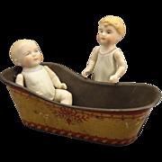 Doll House Tin Tole Painted Bathtub